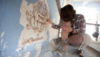 Nitza Metzger Szmuk, restauración de murales en obra de Yehoshua Zvi Tabachnik