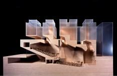 Grafton Architects: Yvonne Farrell, Shelley McNamara; Maqueta, Universita Luigi Bocconi, Escuela de Economía, Milán, Italia, 2008