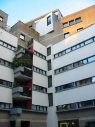 Édith Girard. Interior Vivienda Social, 64 quai de Loire, Paris 19e, Francia. 1985.