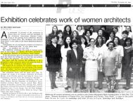 Beatriz del Cueto, Women's Roles in Architecture, 1991