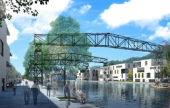 Concurso 3er Premio, 2009- Concepto de estructura urbana para Schmelz, Diddeleng - Ciudad de Dudelange, Luxemburgo