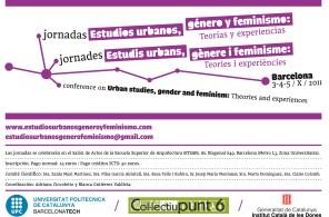 Pilar García Almirall, participación en la Jornada de estudios urbanos, género y feminismo. Col.lectiu punt 6