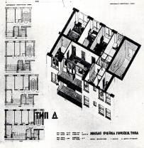 Margarete Schütte-Lihotzky, Proyectos de vivienda (tipo D) en U.R.S.S 1930-1937