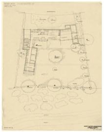 Karen y Ebbe Clemmensen, Casa propia (Gentoften, 1953): Planta Cota 0.