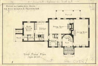 Howe, Manning & Almy. Casa Frothingham, Planta Baja