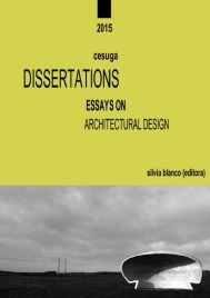 "Silvia Blanco. Afiche disertación ""Essays on architectural design""."