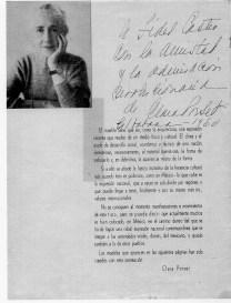 Folleto IRGSA con dedicatoria de Clara Porset a Fidel Castro, 1960
