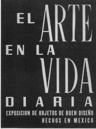 """Clara Porset, Afiche de la muestra """"El arte en la vida diaria"""""""