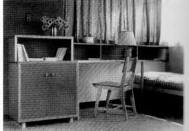 Clara Porset, Muebles de dormitorio de Multifamiliar Presidente Aleman de arquitecto Mario Pani