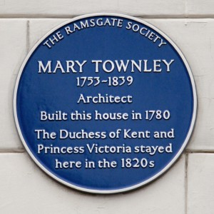 Mary Townley, Placa en la Townley House