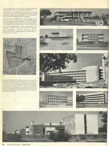Urmila Eulie Chowdhury, artículo en Architectural Design, oct 1965