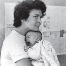 Carmen Córdova con su hija