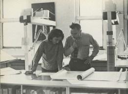 Judith Edelman. Judith y Harold en su oficina en la calle Washington, Nueva York.