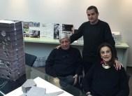 Sara Gramática con sus actuales socios de MGM Arquitectos, Jorge y Lucio Morini.