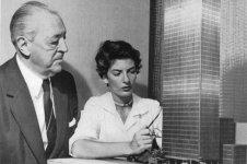 Phyllis Lambert y Mies van der Rohe