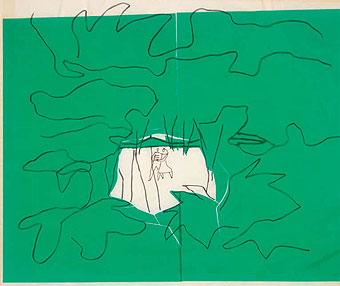 Oscar Niemeyer, Floresta, serigrafía de Anna María Niemeyer