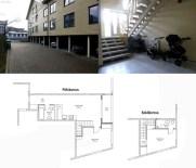 Mai Šein: Edificio de apartamentos en Calle Vabriku n.8. Fotografía de zona de aparcamiento, espacios interiores comúnes y plantas del tipo dúplex.