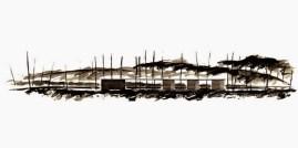 Carme Pigem, RCR Arquitectes. Aguatinta del pabellón de baño Tussols-Basil
