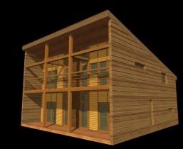Margit Mutso, Madis Eek, Eek & Mutso AB, Propuesta para una casa de madera, 1r premio concurso 1999