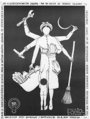 """Tania Magro, Tesis doctoral doctoral """"Hacia la ciudad inclusiva. Prácticas sociales urbanas en Barcelona 1969-1979"""". Imagen: Cartel de la Vocalía de Mujeres de la AVV de l´Esquerra de l´Eixample, Barcelona 1977."""