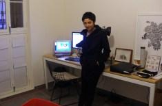 Michelle Llona en su estudio (Chorrillos, Lima)