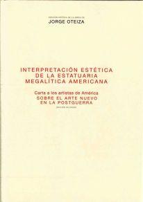 María Teresa Muñoz, Interpretación estética de la estatuaria megalítica americana