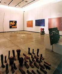"""Janete Costa, muestra """"Pernambuco - Arte Popular e Artesanato"""" en Rio Design Barra, 2001"""