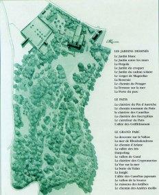 Gertrude Jekyll y Edwin Lutyens; Planos del Parque y Jardines Bois des Moutiers, 1898.