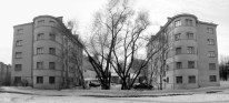 Tamara Katsenelenbogen. G. Simonov y Solomonov. Bateninsky zhilmassiv, Leningrado, 1930.