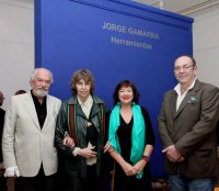 Diana Saiegh, Jorge Gamarra, Josefina Robirosa, León Szajman, en Museo de Arte de Tigre, 2012.