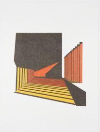 Gabriela Cárdenas, Sombras en tunel 2014, Lápiz color sobre papel