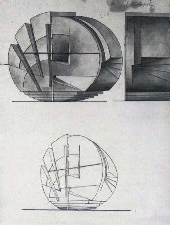 Lydia Komarova. Estudio masa-volumen, 1920s.