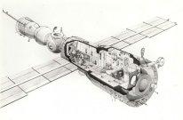 Galina Balashova. Estación Espacial MIR-Diseño-1976-1986.