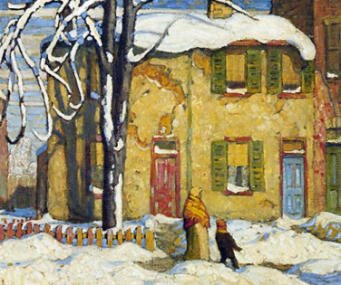 Alexandra Biriukova. Lawren Harris. Canvas. Old House, Toronto Winter c.1919