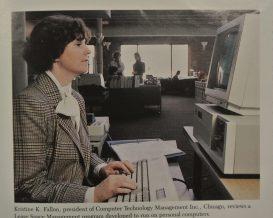 Kristine Fallon. presidenta de Computer Technology Management, Inc., de A. Epstein Companies, en Chicago, Illinois.
