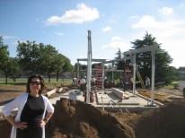 Elizabeth Chu Ritcher, en construcción, Pabellón en Parque Rose Haggar.