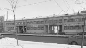 Tamara Davydovna Katsenelenbogen con Simonov, Rubanenko. Edificio parte de Bateninsky zhilmassiv. 1930-1933.