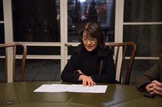 Angela Perdomo. Jurado en Fallos del Cocurso Premio Julio Vilamajó, edición 2015.