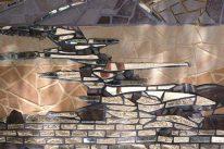 Georgina Lipsey, Mosaico Running water, detalle de Spirit of Tucson