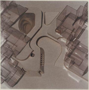 Verena Dietrich,Maqueta Pasaje Lochau y centro juvenil, 1972-73.