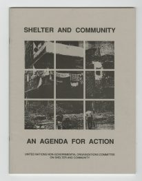 "Ghislaine Hermanuz, Libro ""Sheloter and Community, an agenda for action"""
