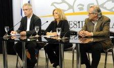 Eneida De León. Conferencia sobre el Cambio climático con Ramón Méndez, presidente del Sistema Nacional de Respuesta al Cambio Climático (Snrcc). Septiembre 2015.