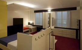Truus Schröder y Gerrit Rietveld, Dormitorio de la familia Harrestein, Amsterdam