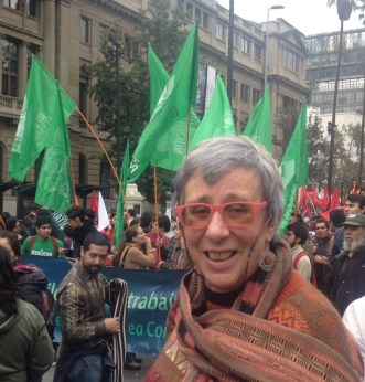 Ana Sugranyes. Manifestación 1 de mayo, 2016.
