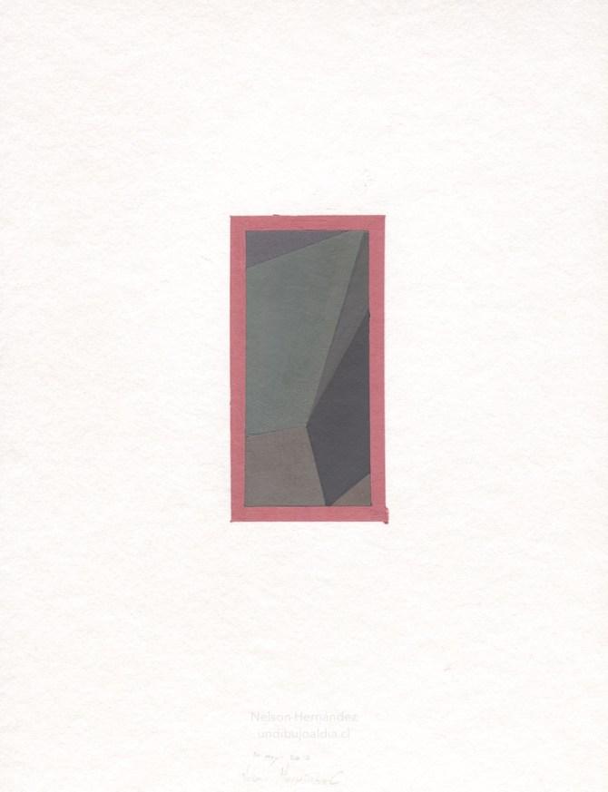 composición de grises en marco rosa
