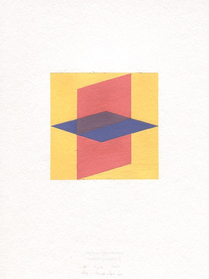 dos cuadrados intersectados