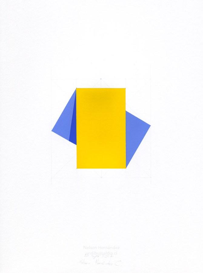 figura amarilla y azul