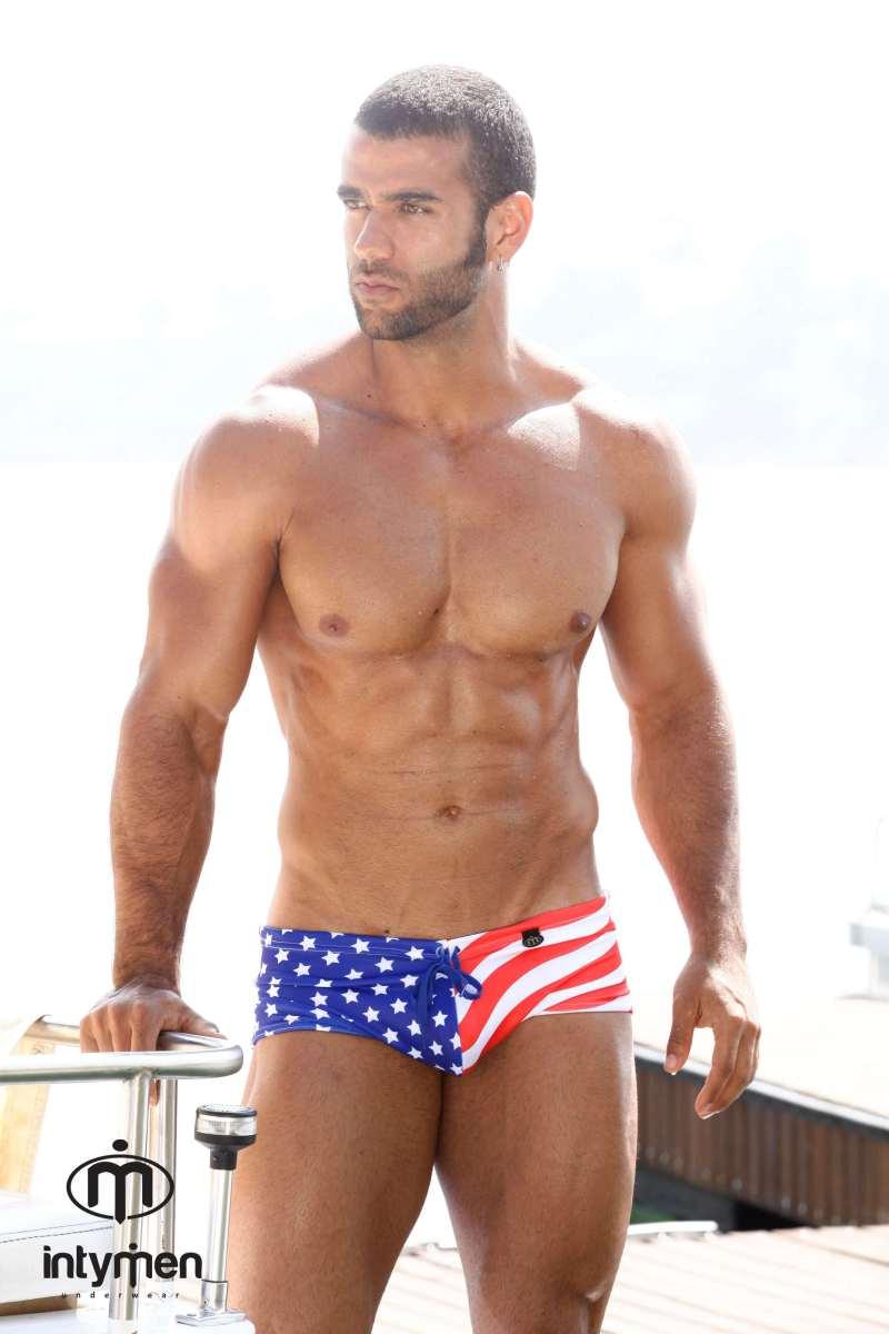 Men's Flag Swimwear