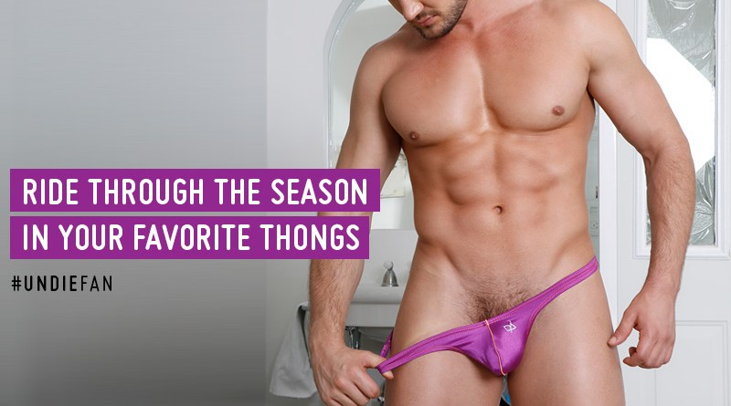Ride through the season in your favorite thongs