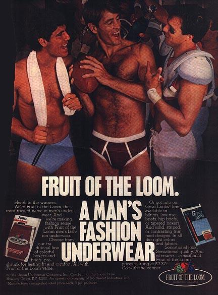 Fruit of the Loom Locker Room Ad 1984